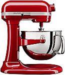 KitchenAid KL26M1XER Professional 6-Qt. Bowl-Lift Stand Mixer (Red/Black/Silver) $239