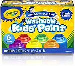 Crayola Washable Kid's Paint (6 count) $4.82 (Was $12)