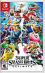 Super Smash Bros. Ultimate (Pre-Order) + $10 promotional credit $56 (Prime required)
