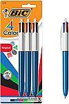 3-Count BIC 4-Color Ballpoint Pen $3.30