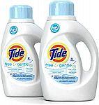 2 x Tide Free HE Liquid Laundry Detergent  50oz $10.49