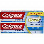 2× Colgate Total Whitening Toothpaste 6oz, Twin Pack + $5 Target Gift Card $10 and more