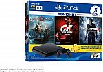 SONY PlayStation 4 Slim 1TB PS4 Hits Bundle+(God Of War,GT Sport ,Uncharted 4, 3 Month Live card) $319