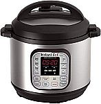 Instant Pot DUO80 8 Qt 7-in-1 Programmable Pressure Cooker $89.99 (Org $136)