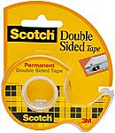 Scotch Brand Double Sided Tape with Dispenser, Standard Width, 3/4 x 300 Inches $2.44