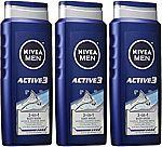 3Pk NIVEA Men Shower and Shave 3-in-1 Body Wash $8