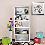 Hampton Bay White Open 5-Shelf Bookcase $46 (58% Off) & More Furniture + Free Shipping