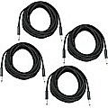 Musician's Gear Braided Instrument Cable 1/4 30 Ft 4-Pack Black $19.99