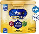 6-Pack of 20.7-oz Enfamil NeuroPro Infant Formula $93.33 or Less