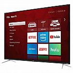 """TCL 65"""" Class 4K UHD ROKU LED LCD TV $480 + Free shipping"""