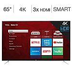"""TCL 65"""" Class (64.5"""" Diag) 4K UHD ROKU LED LCD HDTV $479.99"""