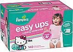 140-Ct Pampers Easy Ups Girls' Training Pants (Size 4) $31.55 and more