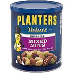 15.25oz Planters Deluxe Unsalted Mixed Nuts $6.29 and more