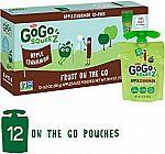 GoGo squeeZ Applesauce on the Go, Apple Cinnamon, 3.2 Ounce (12 Pouches) $4.90