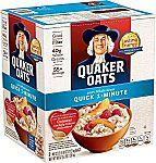 80-OZ Quaker Oats Quick 1-Minute Oatmeal $5.58