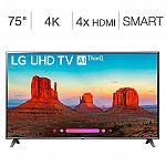 "LG 75"" Class (74.5"" Diag.) 4K Ultra HD LED LCD TV (75UK6570AUA) $1099 + 3yrs SquareTrade Warranty"