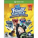 Ubisoft Just Dance 2017 Xbox One $8, Hasbro Family Fun Pack Conquest $10 and more