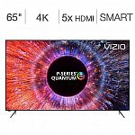 "Vizio 65"" Class (64.5"" Diag.) 4K HDR LED LCD TV (PQ65-F) $1399 + $300 Dell Promo eGift Card"