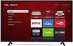 "TCL 55"" Class 4K (2160P) Roku Smart LED TV (55S401) $250 (Refurbished)"