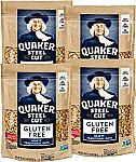 4-Count Quaker Gluten Free (Steel Cut or Quick Cook) $13.99 or Less