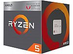 AMD RYZEN 5 2400G Quad-Core 3.6 GHz Desktop Processor $140