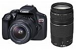 Canon EOS Rebel T6 DSLR Camera with EF-S 18-55mm IS and EF 75-300mm III Lens Kit $400