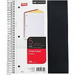 Staples  Notebooks Clearance - 5 Subject Spiral Notebooks $1.59, 1 Subject Notebooks from $0.49