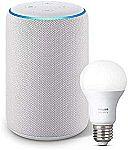 Amazon Echo Plus (2nd Generation) + Philips Hue A19 Bulb (White) $104.99