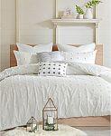 Urban Habitat Bedding Sale: Brooklyn 7-Pc. Full/Queen Cotton Jacquard Duvet Cover Set $93 and more