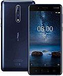 Nokia 8 64GB Factory Unlocked Smartphone $199.99
