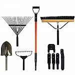 The Handler System Lawn and Garden 5-Piece Tool Set with Garage Storage System $31.86