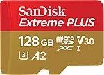 SanDisk - Extreme PLUS 128GB microSDXC UHS-I Memory Card $29.99