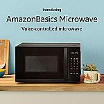 AmazonBasics Microwave, Small, 0.7 Cu. Ft, 700W, Works with Alexa $42 (Org $60)