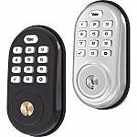 Yale Locks Assure Lock Push Button Door Security Bolt w/ Z-Wave (YRD216) $99, YRD110 $89