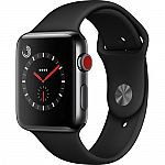 Apple Watch Series 3 42mm (Space Black Stainless Steel) $369, Nike+ Series 3 42mm (Silver Aluminum, Crimson/Black) $284 and more