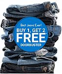 Buy One, Get 2 Free Denim and more