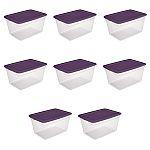 8-Pack of Sterilite 58-Quart Storage Boxes w/ Lids $30 (org $53)