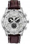 Citizen Men's Eco-Drive Chronograph Watch with Perpetual Calendar and Date $110 and more
