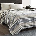 Eddie Bauer 100% Cotton Herringbone Blanket, Blue Stripe from $22.39