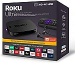 Roku Ultra Streaming Media Player 4K/HD/HDR 2019 with Premium JBL Headphones $80