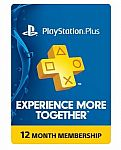 12-Month Sony PlayStation Plus Membership (Physical Card) $39 + Free Shipping