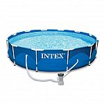 Intex 12' x 30'' Metal Frame Above Ground Swimming Pool with Filter Pump $69.99