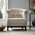 Emma Textured Natural Fabric Arm Chair $169.50