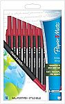 10-Count Papermate Write Bros Recycled Ballpoint Pen (Red) $1.87