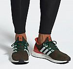 adidas men's Ultraboost Shoes (Dark Green/White) $90