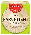 60-Count PaperChef Culinary Parchment Baking Cups (Large) $1.99