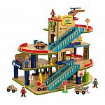 KidKraft Wash n Go Wooden Car Garage $49