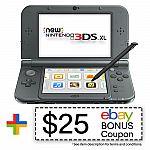 REFURBISHED Nintendo 3DS XL (New Black) + $25 eBay Bonus $119 and more