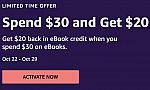 Amazon eBooks: Get $20 Credit with $30 Order (YMMV)