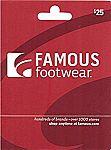 $25 Famous Footwear Gift Card $20, $50 Cinemark $40 & More